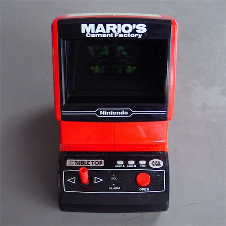 Electronic Plastic Nintendo Mario S Cement Factory 1983